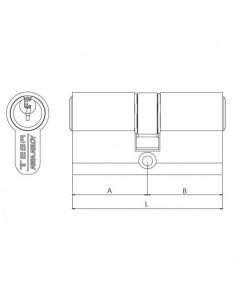 Cilindro estándar TE5/ Perfil europeo doble