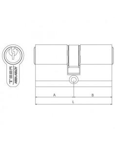 Cilindro de alta seguridad TK6/ Perfil europeo doble