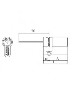 Cilindro estándar TD5/ Perfil europeo regulable