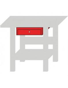Cajón rojo para banco de trabajo