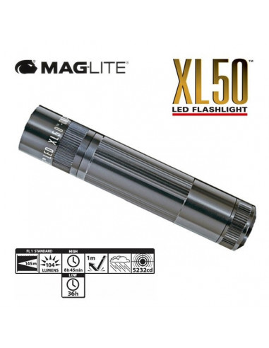 LINTERNA LED MAGLITE XL 50 120 MM AAA NEGRA