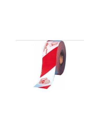 CINTA BALIZA JAR BLANCA/ROJA G-200 80X250 METROS