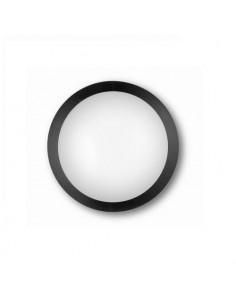 Aplique LEDdecorativo policarbonato redondo negro exterior
